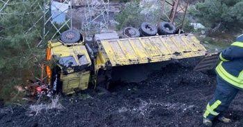 Maden sahasında kamyon devrildi: 1 ölü