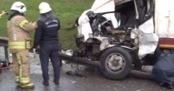TEM Hadımköy'de zincirleme kaza: 4 yaralı