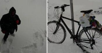 Yol kenarında bıraktığı bisiklet hayatını kurtardı