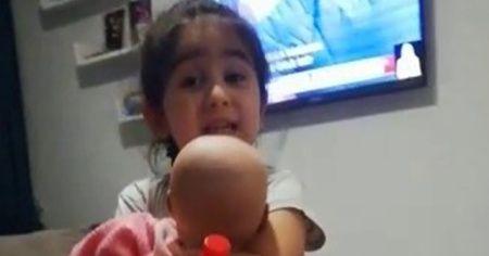 """4 yaşındaki Nur'dan """"maske"""" tepkisi"""