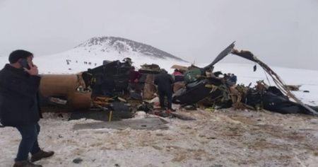 11 askerin şehit olduğu helikopter görüntülendi