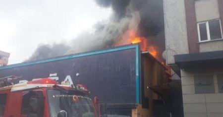 Ataşehir'deki fabrika yangınından işçi son anda böyle kurtuldu