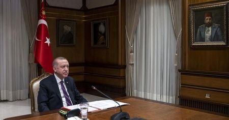 Cumhurbaşkanı Erdoğan, Macron ile görüştü