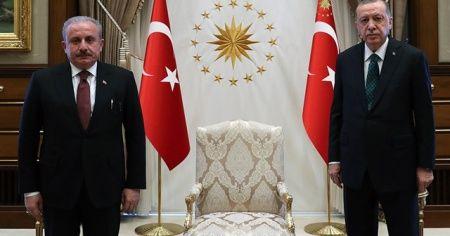 Cumhurbaşkanı Erdoğan, TBMM Başkanı Şentop ile görüştü
