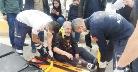 Engelli vatandaşa otomobil çarptı: 1 yaralı