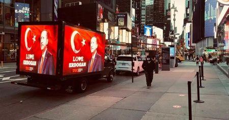 Erdoğan sevgisi Times Meydanı'nda