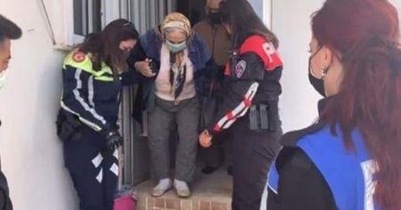 Polisler yaşlı çifti aşıya götürdü