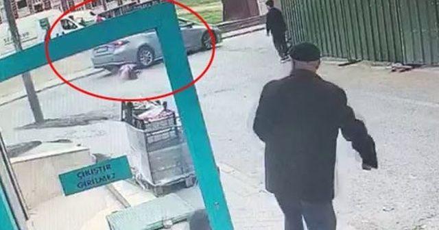 7 yaşındaki kız çocuğuna otomobil çarptı