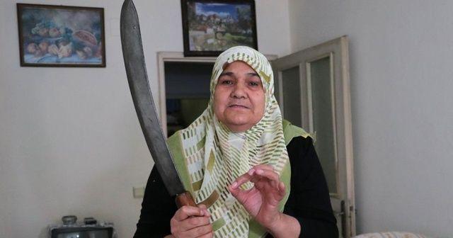 Anneye zırhlı tehdit: Ev giderse seni kıyma yaparım