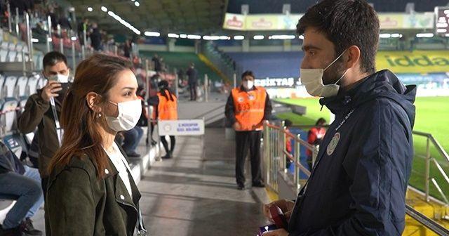 Beşiktaş maçı öncesi statta sürpriz evlilik teklifi