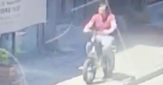 Beşiktaş'ta Deniz Çakır'ın bisikletinin çalınma anı