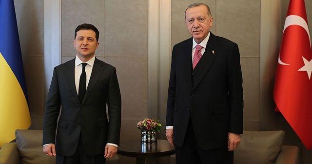 Cumhurbaşkanı Erdoğan ve Ukrayna Devlet Başkanı Zelenskiy bir araya geldi