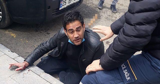 Erzurum'da sırtında bıçakla hastaneye götürülen kişi tedavi altına alındı