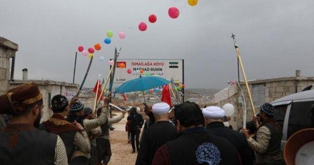 İDDEF, İdlib'deki 610 briket evin açılışını yaptı
