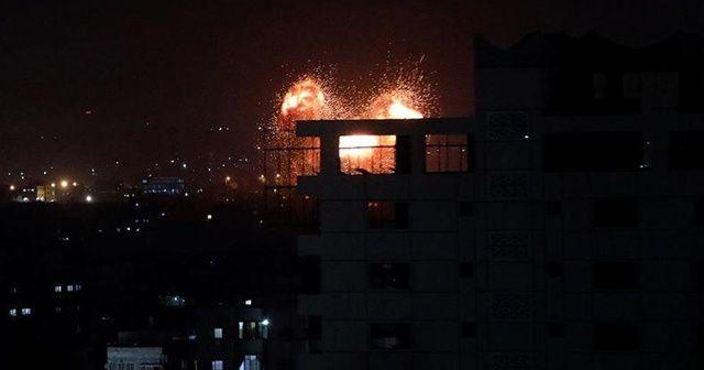 İsrail ordusundan Gazze'de bazı hedeflere hava saldırısı