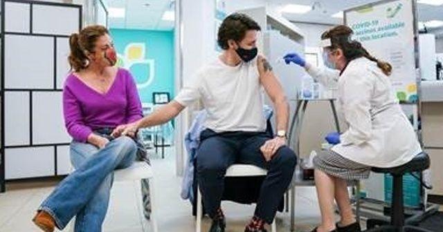 Kanada Başbakanı Trudeau ve eşi AstraZeneca aşısı yaptırdı