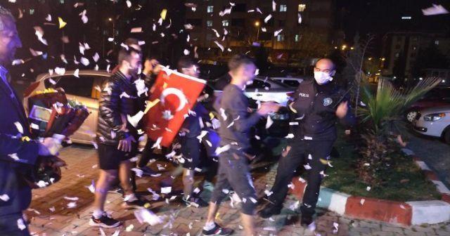 Kavga ihbarına giden polis ekiplerine sürpriz