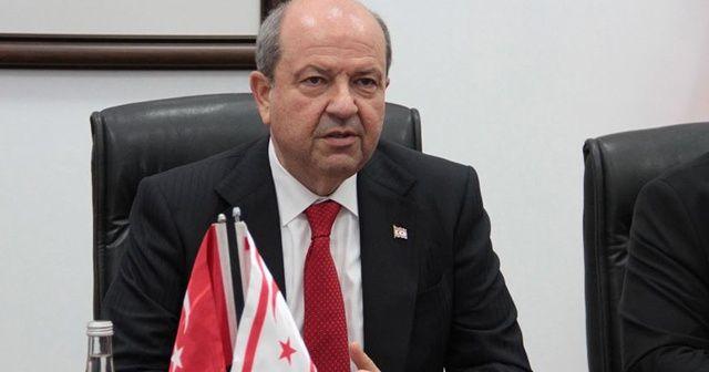 KKTC Cumhurbaşkanı Tatar, Çavuşoğlu'nu kabul etti