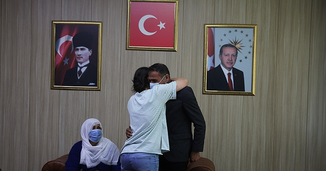 Mardin'de teslim olan terörist ailesiyle görüştü