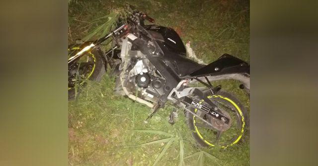 Metrelerce sürüklenen motosiklet sürücüsü öldü
