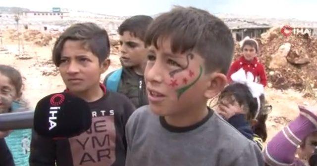 Suriyeli çocuktan savaşın özeti: Bana yitirdiklerimi geri verin