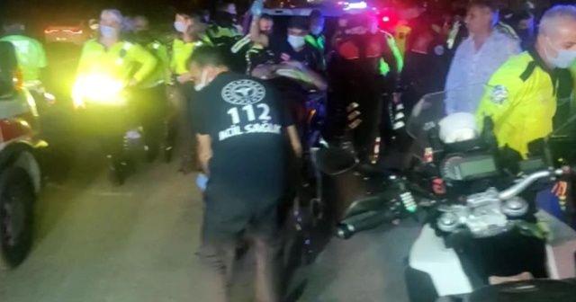 Trafik polisleri kaza yaptı: 1 polis yaralı