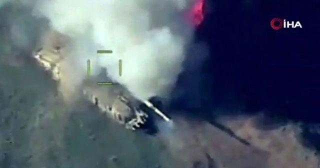 Türk SİHA'larının Dağlık Karabağ savaşında hedefleri vurma anları