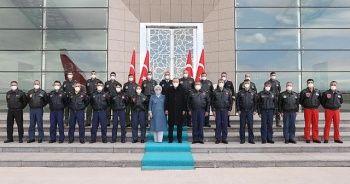 Cumhurbaşkanı Erdoğan pilotlarla bir araya geldi