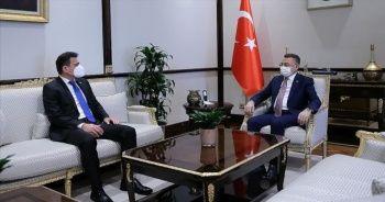 Cumhurbaşkanı Yardımcısı Oktay, KKTC Maliye Bakanı Oğuz'u kabul etti