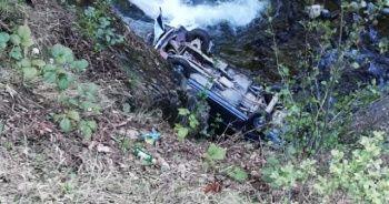 Dereye yuvarlanan otomobilin sürücüsü öldü