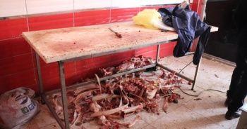 Düzce'de 750 kilo kaçak et ele geçirildi