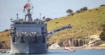 Ege'de denize düşen eğitim uçağının enkazı çıkarıldı