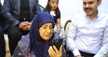 Elazığlı depremzede aileyle telefonda görüştü