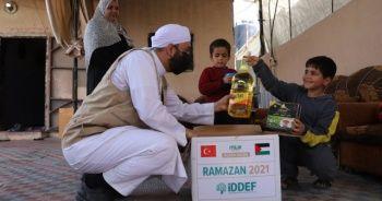 Gazze ve Yemen'deki ihtiyaç sahibi bin aileye yardım kolileri ulaştırıldı