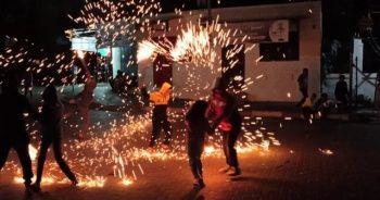 Gazzeli çocukların Ramazan sevinci renkli görüntüler oluşturdu