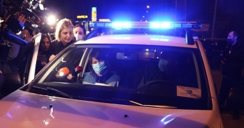 Gürcistan'da Rus gazeteciye protesto
