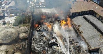 İstanbul Emniyet Müdürlüğü'ne ait depoda yangın