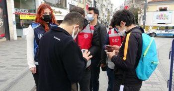 İstiklal Caddesi'ne girmek isteyenler tek tek kontrol ediliyor