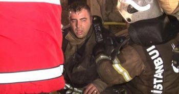 İtfaiye eri yangına müdahale ederken fenalaştı