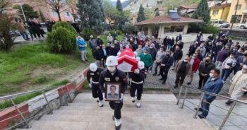 Kanserden vefat eden polis memuru son yolculuğuna uğurlandı