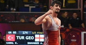 Kerem Kamal, Avrupa Güreş Şampiyonası'nda finale yükseldi