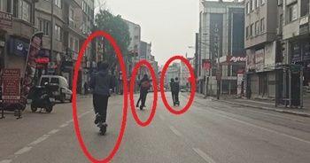 Kısıtlamayı scooter ile deldiler