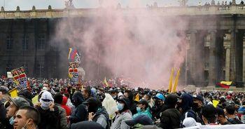 Kolombiya'da vergi reformu protestosu