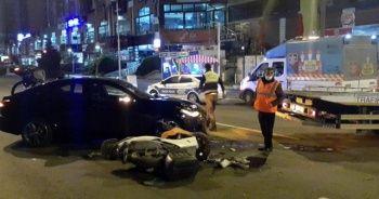 Lüks araba ile kaza yaptılar, arabayı bırakıp taksi ile kaçtılar