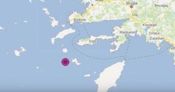 Muğla Datça açıklarında 4.4 büyüklüğünde deprem