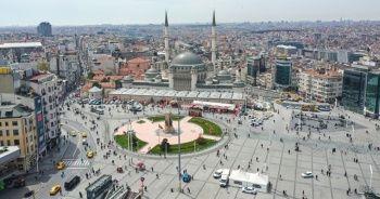 Taksim'e yapılan cami açılışa hazırlanıyor