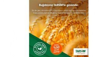 TARSİM: 'Buğday ürününüz güvende'