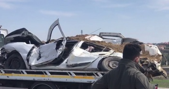 TEM'de hafriyat kamyonu dehşeti