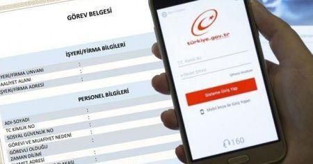 Görev Belgesi e devlet başvurusu   İçişleri Bakanlığı çalışma izin belgesi nasıl alınır?
