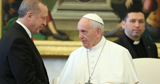 Cumhurbaşkanı Erdoğan, Papa Francis ile Gazze'yi konuştu